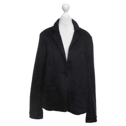 René Lezard Fur look Blazer in Black