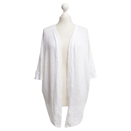 Velvet Knit cardigan in white