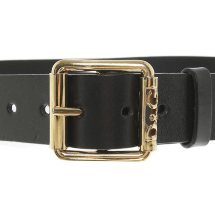 D&G Leather Belt zwart
