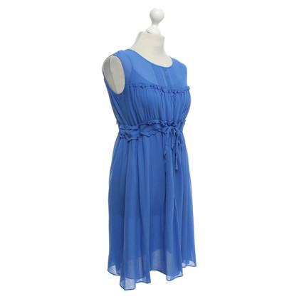 Vanessa Bruno zijden jurk in blauw