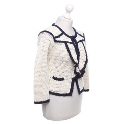 Red Valentino Cardigan in cream / dark blue