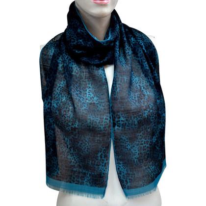 Burberry sciarpa in lana con stampa animalier