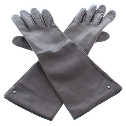 Other Designer Roeckl - dark brown smooth leather gloves