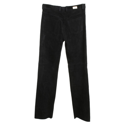 Escada Leather pants in dark blue