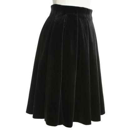 Maje Velvet skirt in black