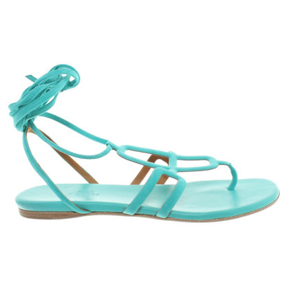 Hermès Sandals in turquoise