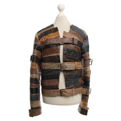 H&M (designers collection for H&M) Veste en cuir avec des détails de boucle
