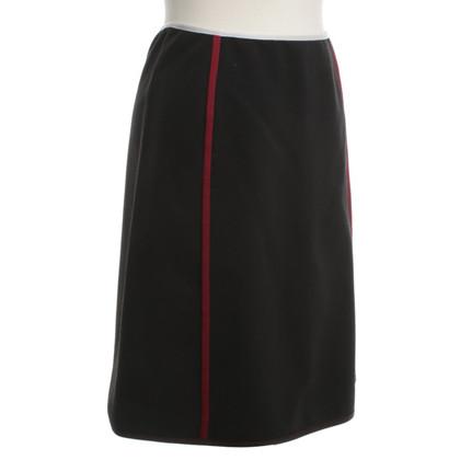 Prada skirt with piping