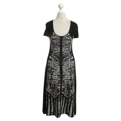 BCBG Max Azria Knit dress in black / white