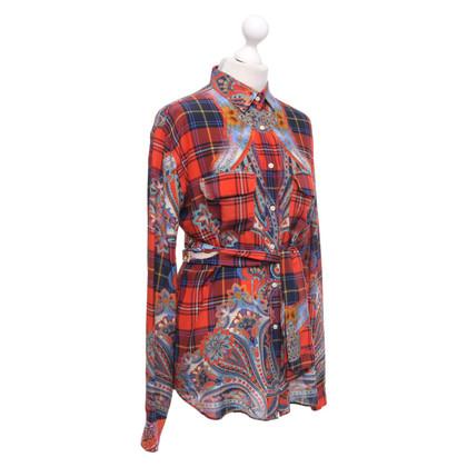 Stella Jean Zijden blouse met patroon