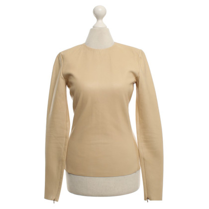 Céline Leather top in beige