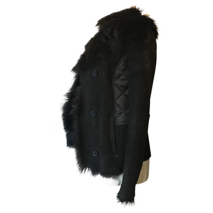 Patrizia Pepe Fur black coat