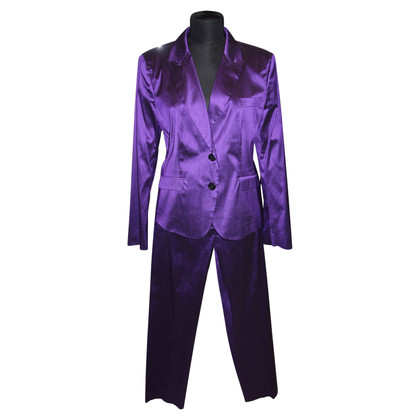 Etro Purple silk pants suit