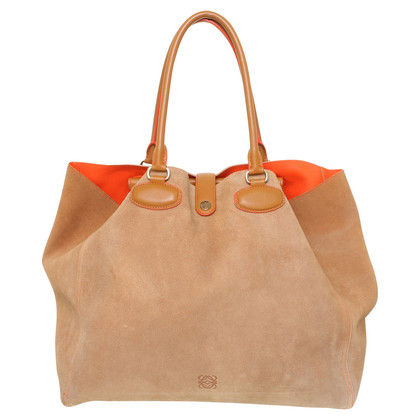 Loewe Wildlederhandtasche in Braun