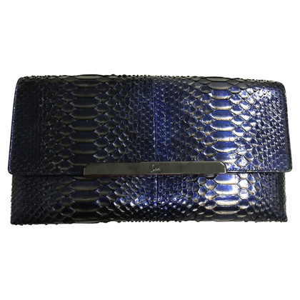 Christian Louboutin clutch from python leather
