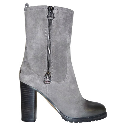 Jimmy Choo GREY SUEDE ANKLE BOOTS BY JIMMY CHOO