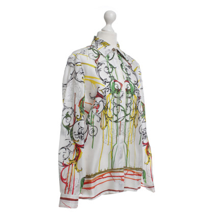 Gianni Versace Silk blouse with print