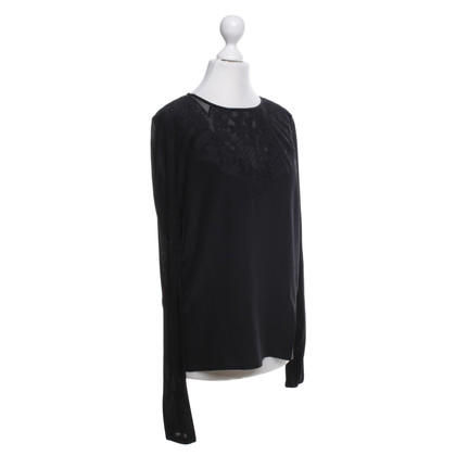 Diane von Furstenberg Blouse in black with lace