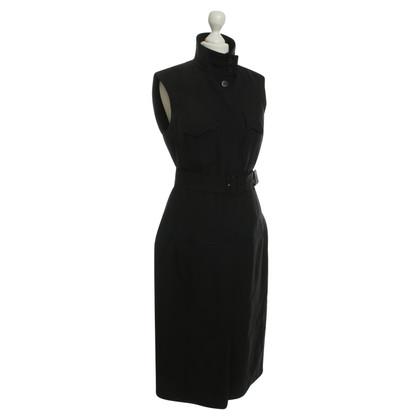 René Lezard Shirt-jurk in zwart