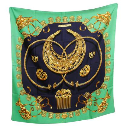 "Hermès Sciarpa di seta ""Les Cavaliers d'Or"""