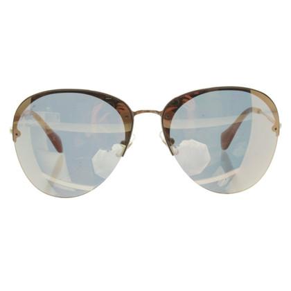 Miu Miu Sonnenbrille mit verspiegelten Gläsern
