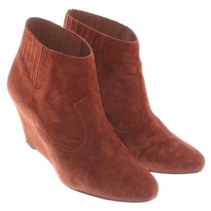 Bash Ankle boots in rust red