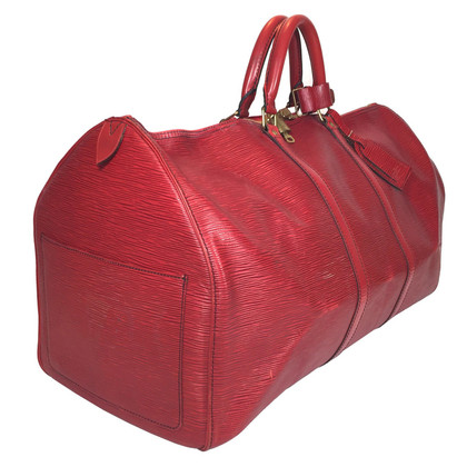 "Louis Vuitton ""Keepall 55 Epi Leather"" in red"