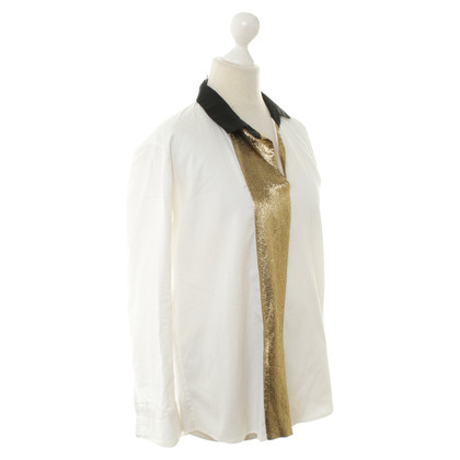 Sandro Blouse with silk details