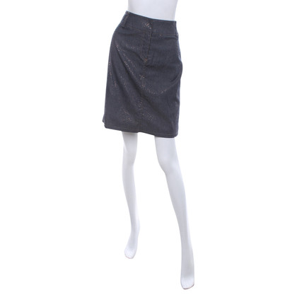 Calvin Klein Denim skirt with gold print