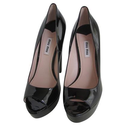 Miu Miu Patent leather peep-toes