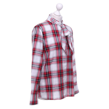 Cinque top with check pattern
