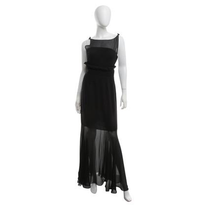 Karl Lagerfeld zijden jurk in zwart