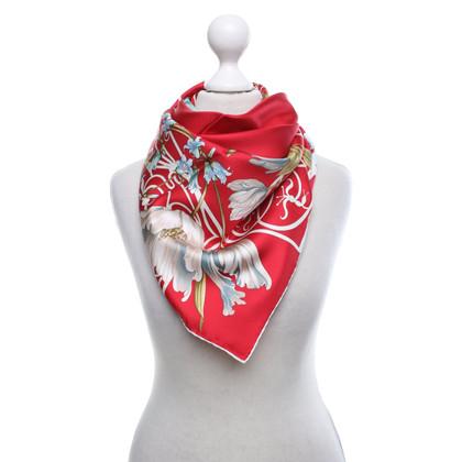 Longchamp Zijden sjaal met bloemenprint