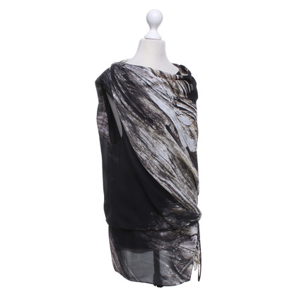 Helmut Lang Top con motivo stampato