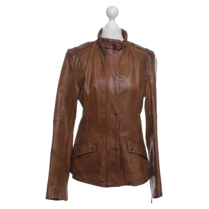 Belstaff Leather Jacket in Bruin