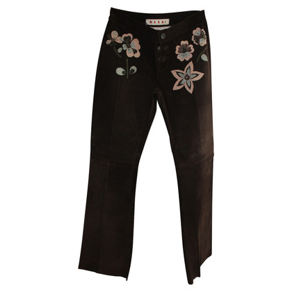Marni trousers suede