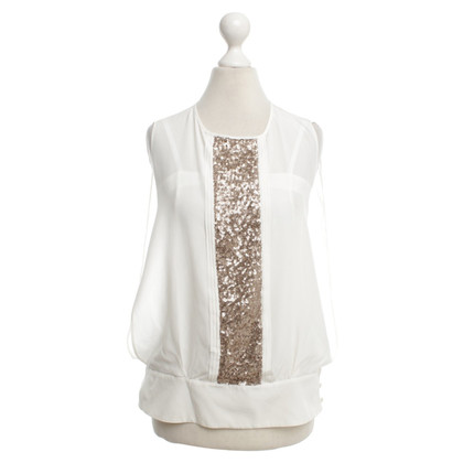 Max & Co Top in ivory color with sequins