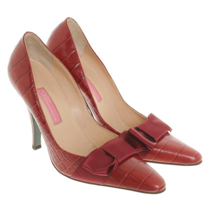 Blumarine Pumps in Dunkelrot
