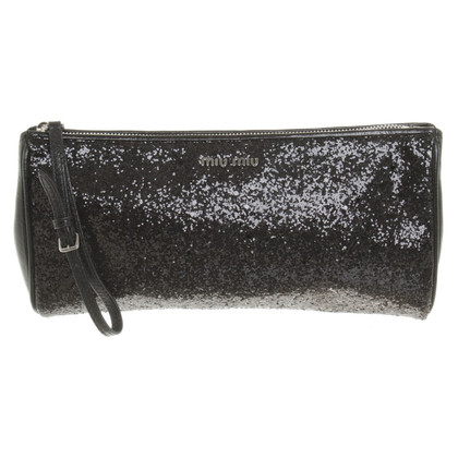 Miu Miu clutch met glitter coating