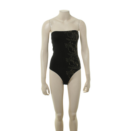Wolford Black body with embroidery