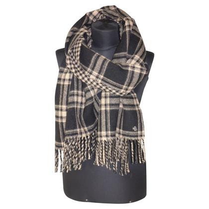 Ralph Lauren Wollen sjaal met geblokt patroon