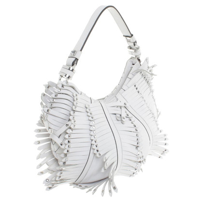 Karen Millen Lederhandtasche im Fransendesign