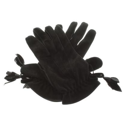 Louis Vuitton Guanti in pelle in nero