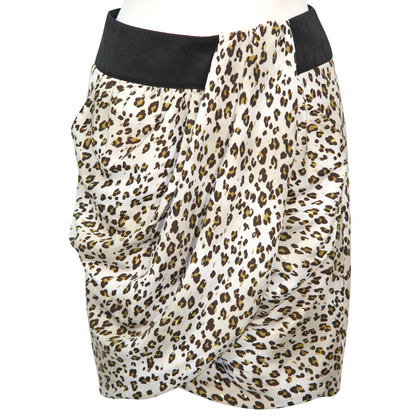 Reiss Gonna con stampa leopardo