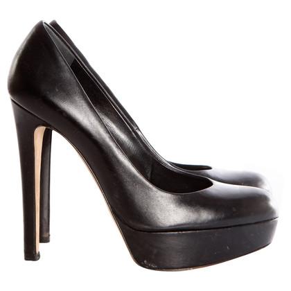 Christian Dior  zwarte platform pumps