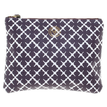 By Malene Birger clutch in viola / bianco