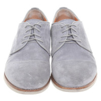 Santoni Suede flat shoes gray