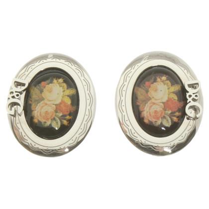 D&G Boucles d'oreilles avec imprimé fleurs