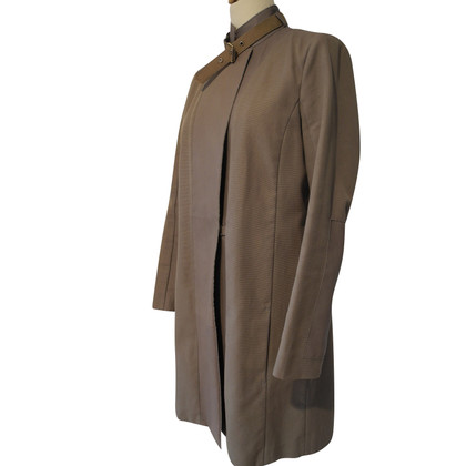 Schumacher Coat with leather details
