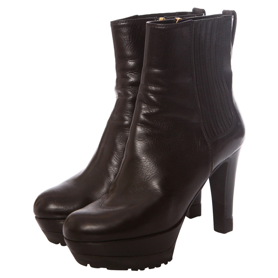sergio rossi plateau ankle boots buy second hand sergio rossi plateau ankle boots for. Black Bedroom Furniture Sets. Home Design Ideas